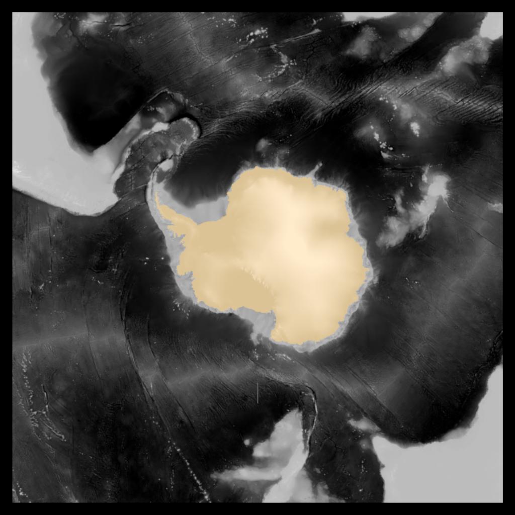 Antarctica Continent Polar Projection